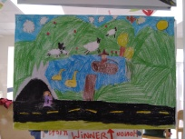 One of the winners of our art competition, well done!